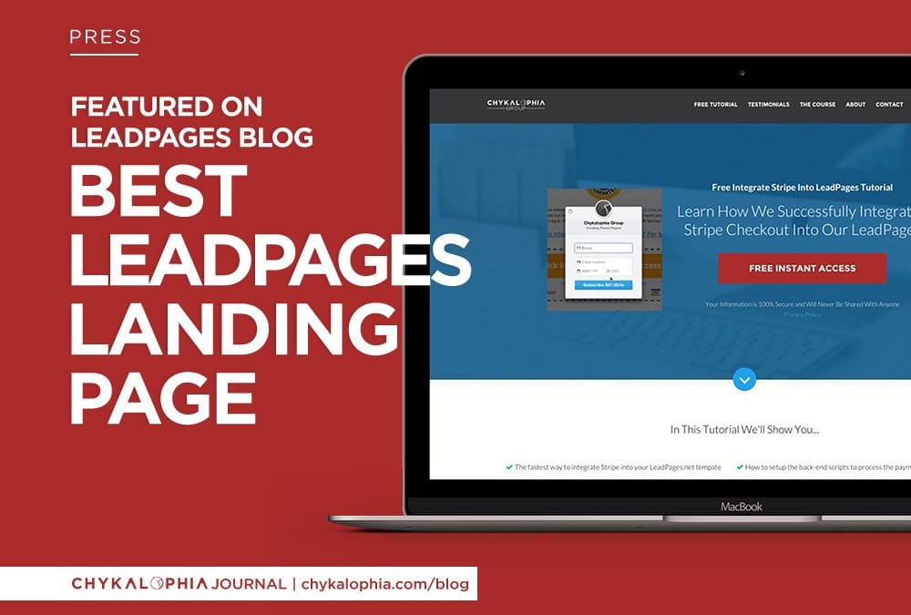 Featured: Best Leadpages Landing Page May–June 2015