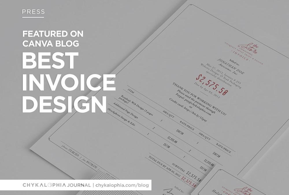 good invoice design