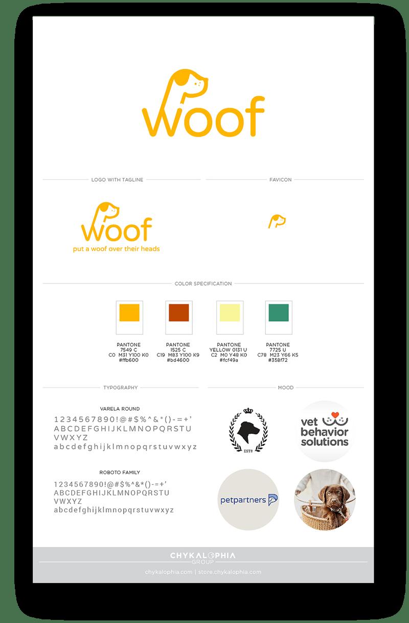 Woof Branding & iOS App