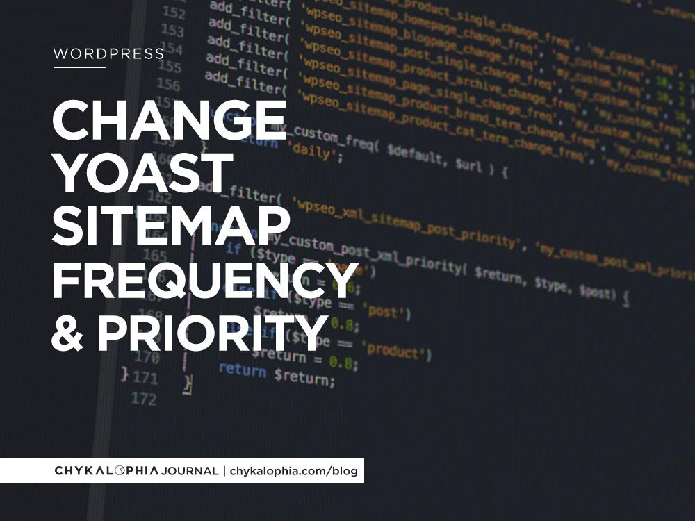 change yoast sitemap frequency and priority chykalophia group