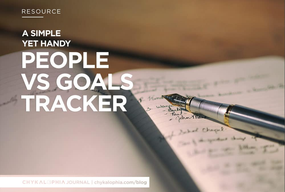 A Handy People vs Goals Tracker