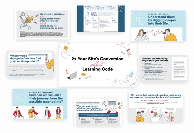 How to 2x Your Site's Conversions Without Learning Code Deck & User Journey Worksheet